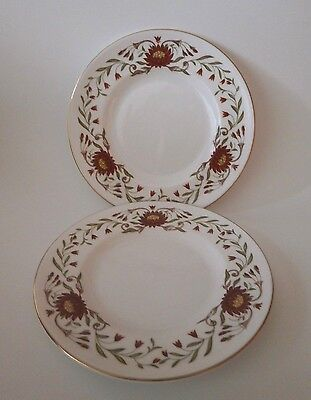 Vintage Beautiful Pair Wedgwood Susie Cooper Mariposa Bread & Butter Plates