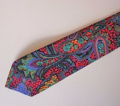 Trent Nathan Paisley Brightly Coloured Polyester Tie Made in Australia