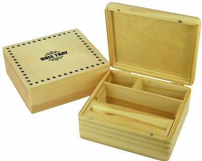 Grassleaf Wooden Rolling Box Stash Snuff  Box Different Sizes