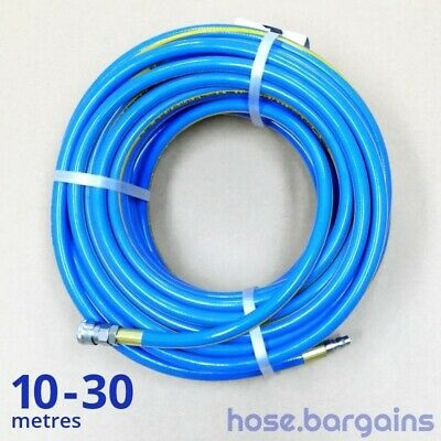 "Fitted Air Compressor Hose 10mm 3/8"" Australian Uniflex Nitto Type Air Tool Hose"