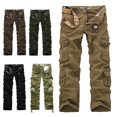 Army Cargo Camo Combat Military Mens Trousers Pants Camouflage High Quality