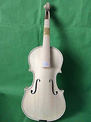 New Finished baroque violin 4/4 in white nice flamed maple back NO4