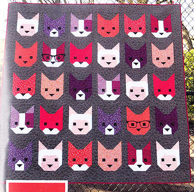 The Kittens - fun modern pieced quilt PATTERN - Elizabeth Hartman