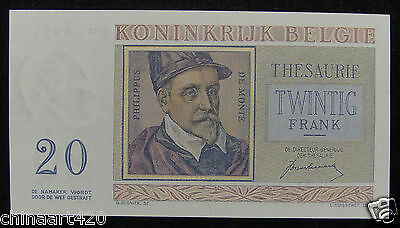 Belgium Paper Money 20 Francs 1950 UNC
