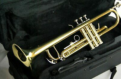 Trumpets-New Intermediate Golden Brass Marching Concert Band Trumpet-B Flat