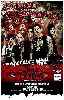 Avenged Sevenfold * Original Concert Poster 11x17 * rare limited 2007 tour