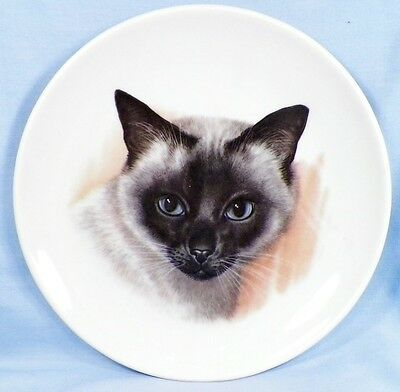 Siamese Cat Decorative Porcelain Plate Schumann Arzberg Bavaria EX