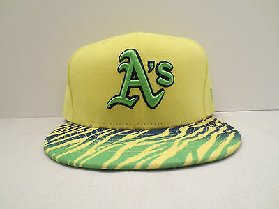 dc617646f3f New Era Mlb Oakland Athletics Crackle Vize Fitted Cap Hat Size 7 1 2 Yellow