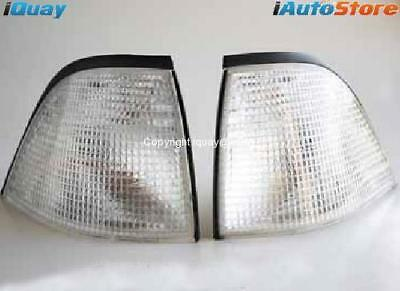BMW E36 3 Series 2Dr Coupe Clear Corner Indicators Lights PAIR LH+RH Left+Right