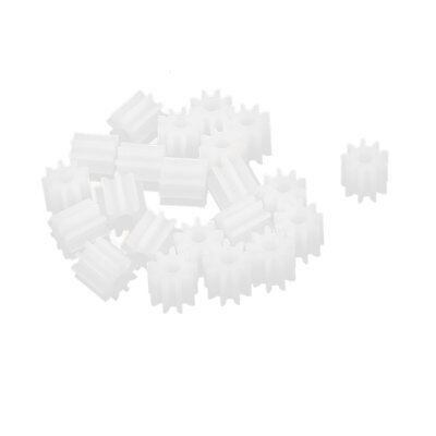 20 Pcs 5mmx2mm 9 Teeth Plastic Thick Motor Spindle Spur Gear for DIY Robbot