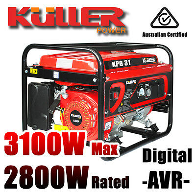 NEW KULLER 3100w Max/2800w Rated Home Backup Power Generator Single-Phase