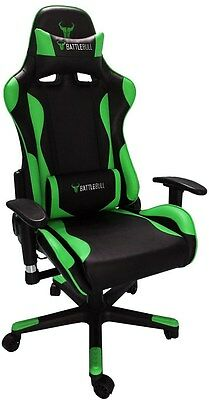 BattleBull Combat Gaming Chair Black/Green[BB-620958]