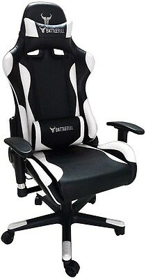 BattleBull Combat Gaming Chair Black/White[BB-620960]
