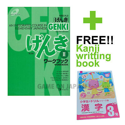 GENKI 2 Workbook plus Kanji Textbook Japanese Book School Workbook Language