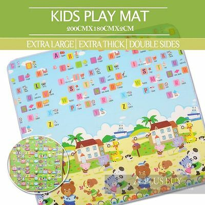 Extra Thick Large 20mm Kids Baby Crawl Play Picnic Mat Floor Rug 1.8mx2m C