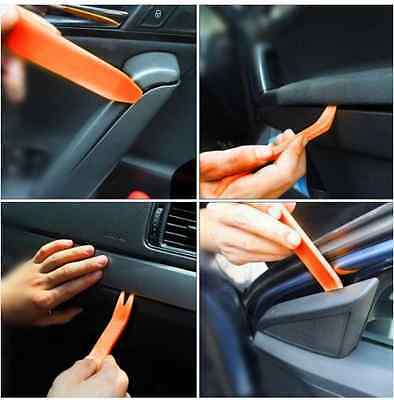 4pc Auto Car Radio Door Clip Panel Trim Dash Audio Removal Installer Pry Tool