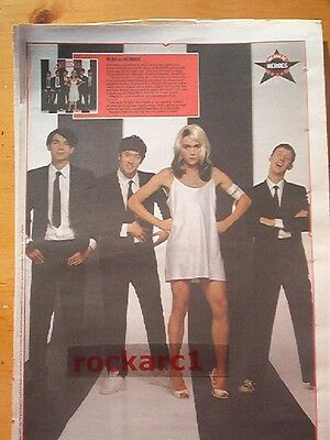 BLUR as Blondie 1991 LARGE newsprint POSTER/ Pin Up 16x12 inches