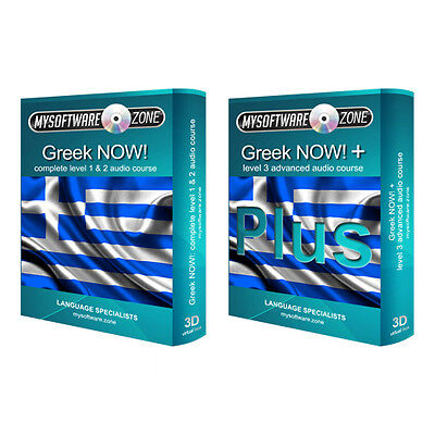 Learn to Speak Greek Language Fluently Value Pack Course Bundle Level 1, 2 & 3