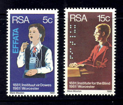 South Africa 1981 Institute for the Deaf and Blind MNH