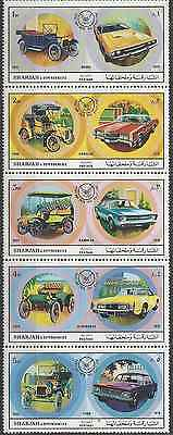 Timbres Voitures Sharjah ** lot 8936