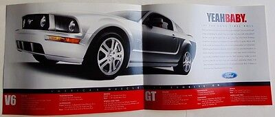 2005 Ford Mustang Auto Show Reveal Brochure