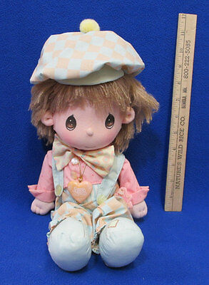 "Precious Moments Doll Boy Love is Patient Locket Applause 12"" Tall Toy"