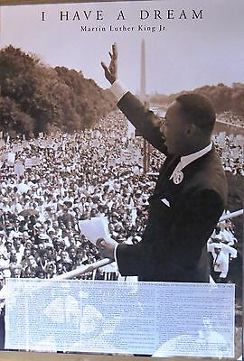 Martin Luther King I Have A Dream - LAMINATED Poster-90cm x 60cm-Brand New