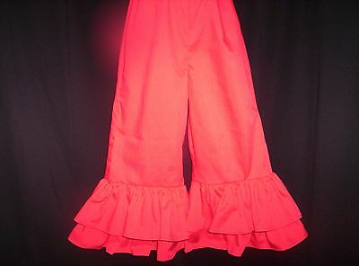 Red Custom Boutique Double Ruffle Pants size 2T-5