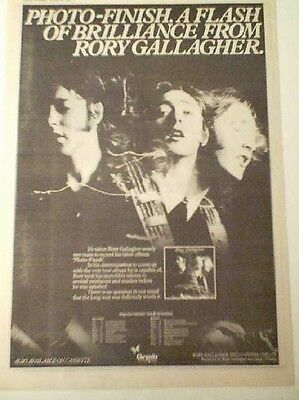 RORY GALLAGHER Photo Finish album & tour 1978 UK Poster size Press ADVERT 16x12""
