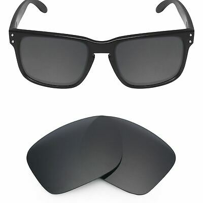 MRY POLARIZED Replacement Lenses for-Oakley Holbrook Sunglasses Stealth Black