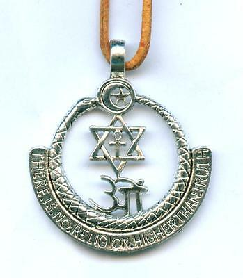 Halskette There is no Religion higher than Truth Necklace Adyar Masonic Esoterik