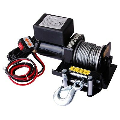 Electric Recovery Winch 2000lb 12V 0.9HP ATV UTV Trailer Truck Car Free Gloves