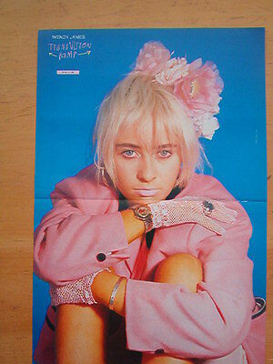 WENDY JAMES pretty in pink Centerfold magazine POSTER 17x11 inches