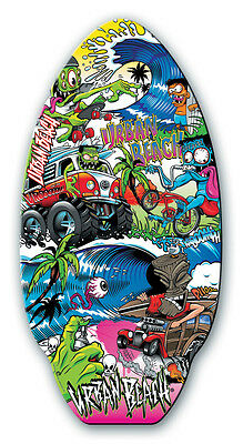 "Urban Beach 41"" Wooden Skim Board - Monster - Skimmer Skimboard"