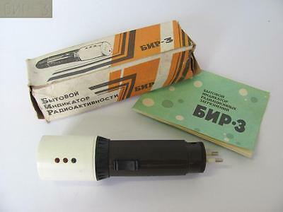 Vintage Russian Ussr Bir3 Personal & Home Radiation Detector Device