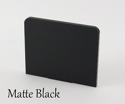 MATTE BLACK ACRYLIC PLASTIC SHEETS IN 3mm