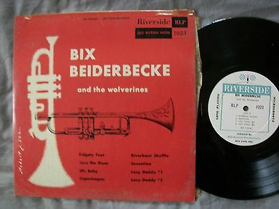 "BIX BEIDERBECKE & Wolverines-10"" Jazz LP/RIVERSIDE RLP 1023/from 1954/Cornet"
