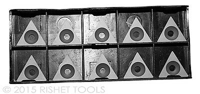 RISHET TOOLS TPGB 321 C5 Uncoated Carbide Inserts (10 PCS)