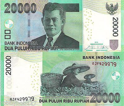 INDONESIA 20000 Rupiah Banknote World Paper Money UNC Currency Pick p151d Bill