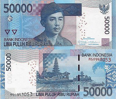 INDONESIA 50000 Rupiah Banknote World Paper Money UNC Currency Pick p152c Bill