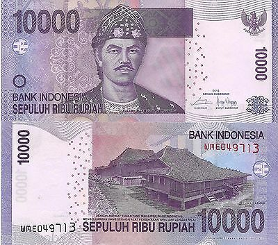 INDONESIA 10000 Rupiah Banknote World Paper Money UNC Currency Pick p150g 2015