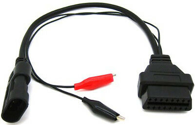 3 Pin to 16 Pin OBD2 OBDII Adapter Cable Connector for Fiat Alfa Romeo Lancia