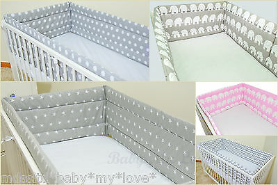 All Round BUMPER approx. 420/360cm long to fit Cot 120/60cm or Cot Bed 140/70cm