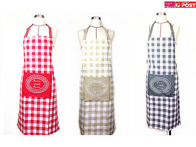 1pc Home Sweet Home Apron Cotton Washable Kitchen Cooking Craft Pockets ADV205