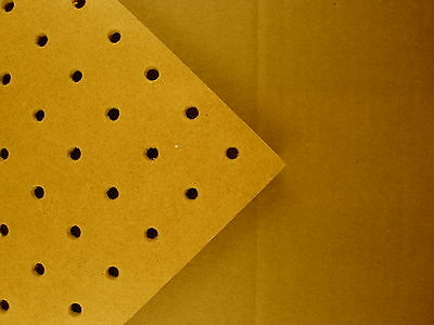 6mm wooden Pegboard 6x4' and 4'x2', 6mm hole with 25mm Hole centres perf hboard