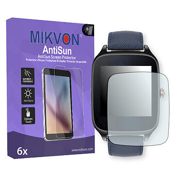 6x Mikvon AntiSun Screen Protector for Asus ZenWatch 2 (WI501Q) Retail Package