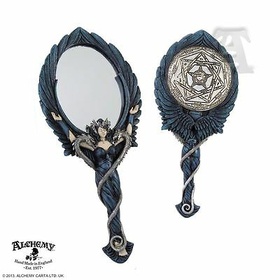 Alchemy - The Vault Black Angel Resin Hand Mirror BRAND NEW