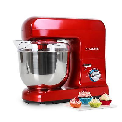 Red Electric Food Stand Mixer Kitchen Machine Klarstein 5L Bowl 1000W 10 Speed