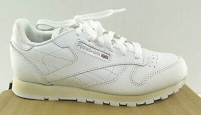 a6a52fda9fc REEBOK JUNIOR CLASSIC Leather White - 50150 - NWD - Size 3.5 to 4.5 ...
