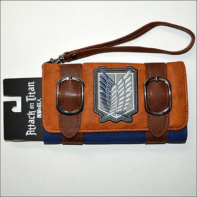 Attack on Titan Anime Costume Cosplay Envelope Satchel Fold Wallet Purse LICENSE